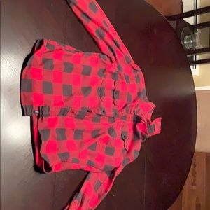 American Eagle Red and black flannel BARELY USED